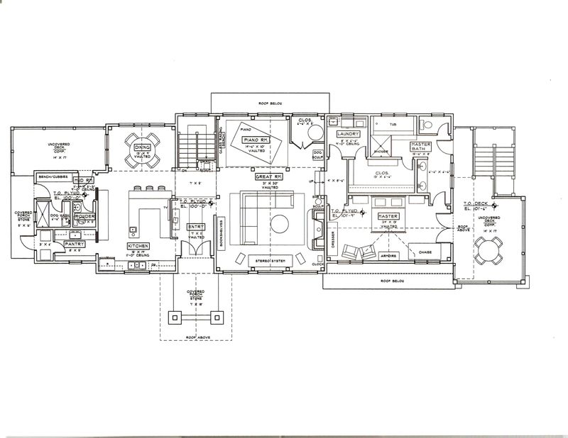 Common floor plan concepts for a new home for Closed kitchen floor plans