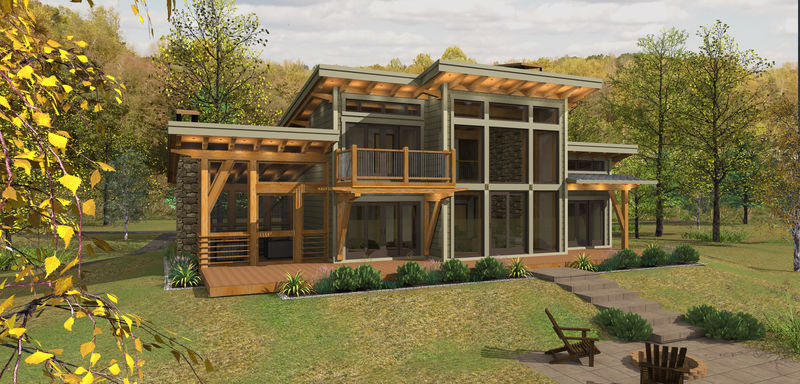 Sweetwater cabin timber frame design for Small cottage plans canada