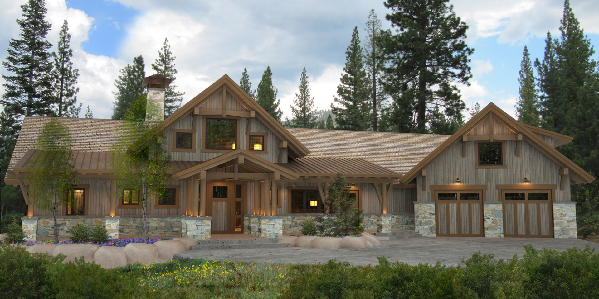 Bragg creek Timber framed house plans