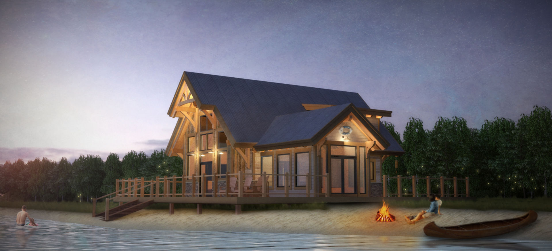 Sweetwater Cabin Timber Frame Design