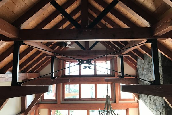 Whytecliff-Bowen-Island-British-Columbia-Great-Room-Rafters