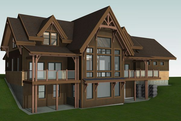 Meredith-Bay-New-Hampshire-Canadian-Timberframes-Design-3D-Elevation