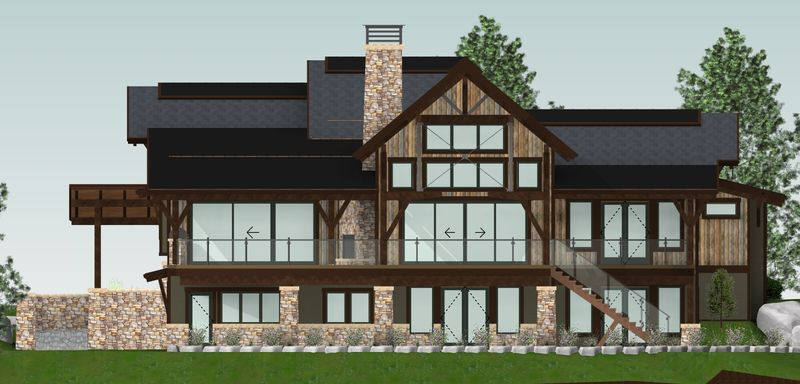 Whytecliff-Canadian-Timberframes-Design-Rear-Elevation