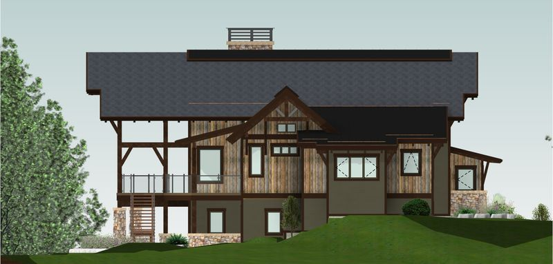 Whytecliff-Canadian-Timberframes-Design-Left-Elevation