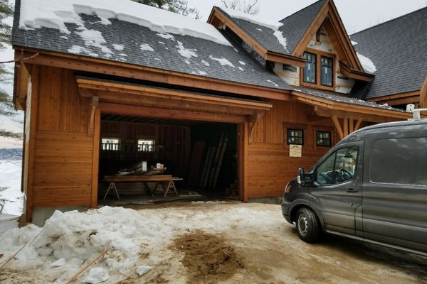 Meredith-Bay-New-Hampshire-Canadian-Timberframes-Construction-Garage