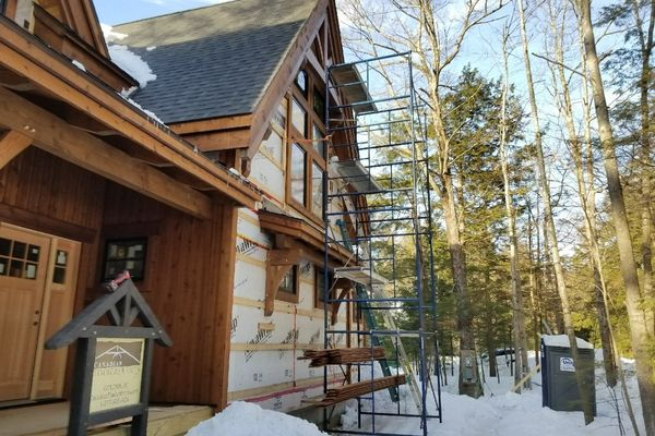 Meredith-Bay-New-Hampshire-Canadian-Timberframes-Construction-Wall-Panels