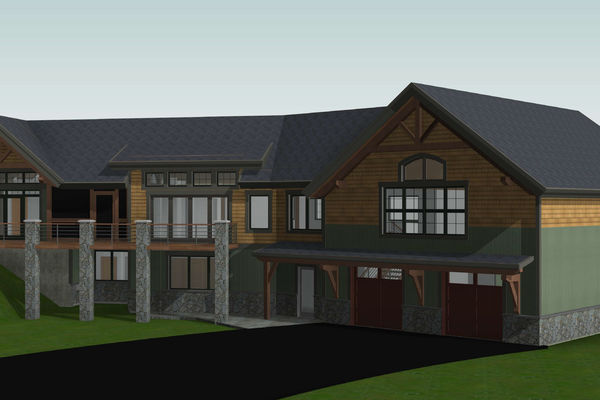 White-Mountain-Timber-Home-Canadian-Timberframes-New-Hampshire-Design-Front-Right-Perspective