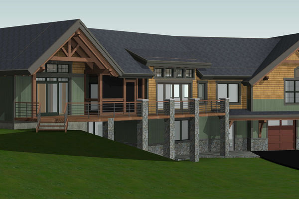 White-Mountain-Timber-Home-Canadian-Timberframes-New-Hampshire-Design-Front-Left-Perspective