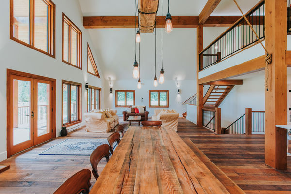 Pemberton-Timber-Frame-Barn-Canadian-Timberframes-Great-Room-Dining