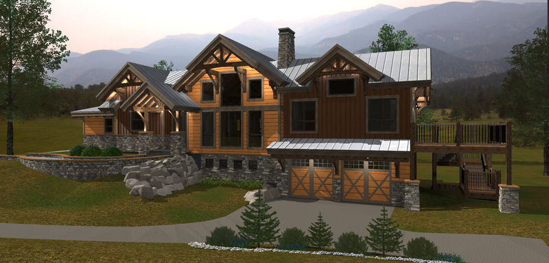<p>This rustic mountain bungalow design with added basement offers a large main floor master with ensuite, walk in closets and a deck for those lazy mornings. The basement is designed with plenty of space and walk-out to extend your outdoor living; all the amenities needed to support a healthy retirement lifestyle.</p>