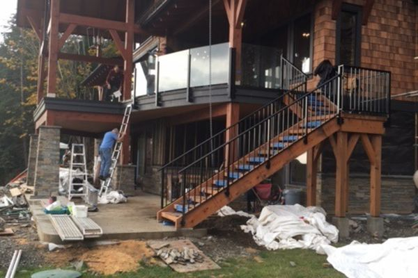 Whytecliff-Bowen-Island-British-Columbia-Construction-Rear-Exterior