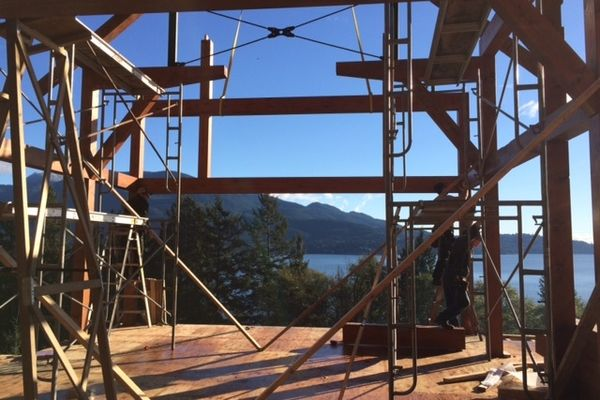 Whytecliff-Bowen-Island-British-Columbia-Construction-Timber-Raising