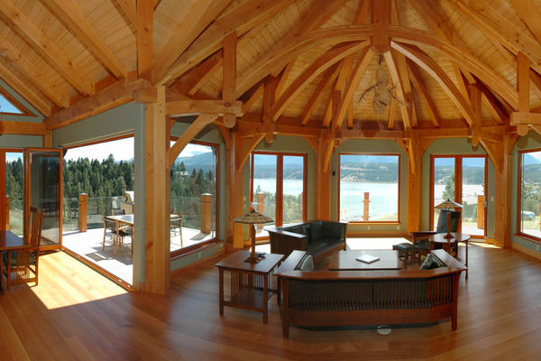 Purcell-Peaks-Invermere-BC-Canadian-Timberframes-Great-Room