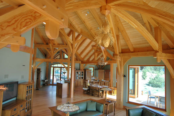 Purcell-Peaks-Invermere-BC-Canadian-Timberframes-Great-Room-Kitchen