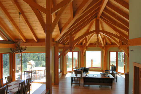 Purcell-Peaks-Invermere-BC-Canadian-Timberframes-Great-Room-Dining