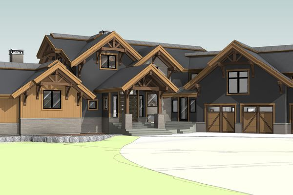 Northern-Meadows-Whitecourt-Alberta-Canadian-Timberframes-Design-Front-Perspective