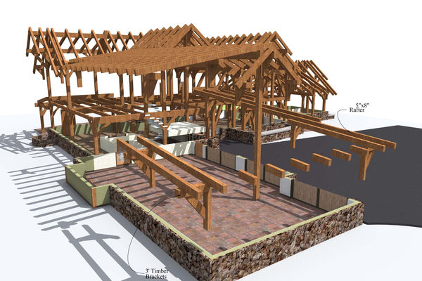 Bow-River-Alberta-Canadian-Timberframes-Design-3D-Timber-View