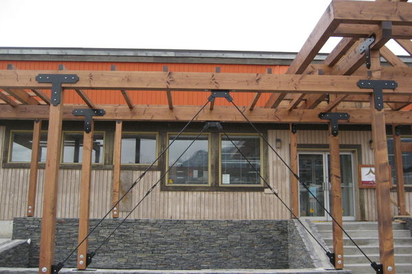 Golden-Library-British-Columbia-Construction-Timber-Accents-Entry-