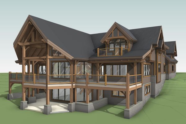 Great-Lakes-Legacy-Michigan-Canadian-Timberframes-Design-3D-Rear