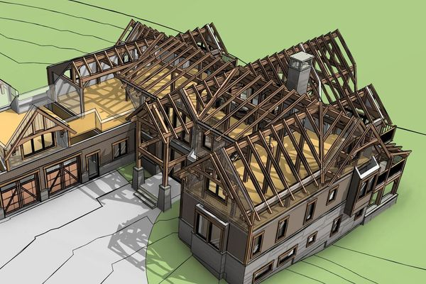 Great-Lakes-Legacy-Michigan-Canadian-Timberframes-Design-3D-Exploded-Timber